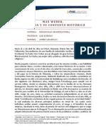 Max Weber, Biografia y su contexto histórico.