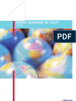 Doing Business in Italy 2010 BDO-IBFD