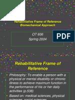 Rehabilitative Frame of Reference-1