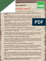 Manifiesto PSOE Día Medio Ambiente 2012