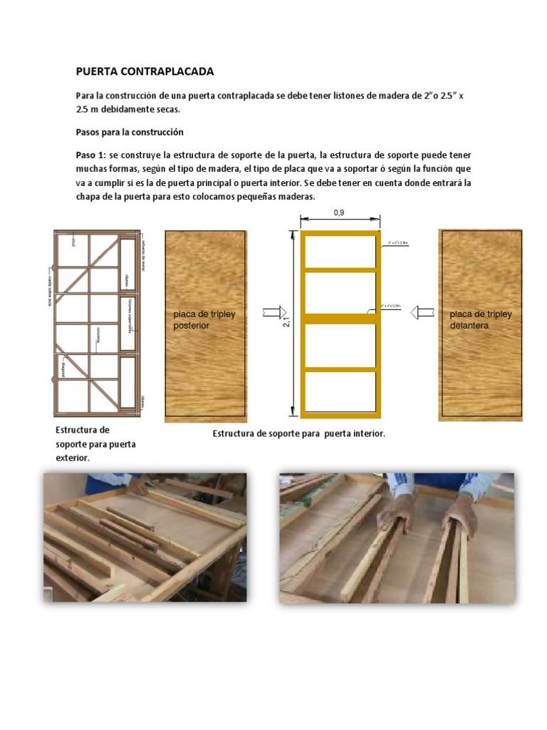 Puerta contraplacada for Tipos de puertas de madera