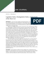 Legislative Rules, Non Legislative Rules, And the Peril of the Shortcut