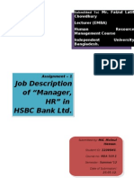 Jd of Hr Manager of Hsbc Bank