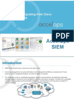 Cisco MARS to AccelOps
