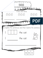 Sight Word Pack Freebie