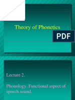 Lecture 2. Phonology. Functional Aspect of Speech Sound.