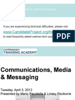 Communications, Media, and Messaging for Local Campaigns