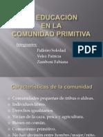 La educación en comunidades primitivas