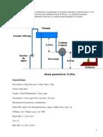 Ensayo de turbina eléctrica tipo FRANCIS