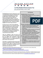 American Action Forum Report on ObamaCare Medical Device Tax