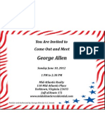 George Allen Invitation