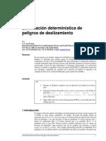 Analisis Deterministico de Peligros de Deslizamiento