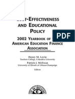 Cost Effectiveness and Educational Policy