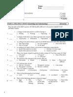 SNC1D Chemistry Practice Unit Test