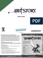 Vagrant Story - Manual - PSX