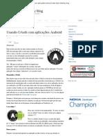 Usando OAuth com aplicações Android