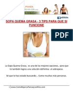 *** SOPA QUEMA GRASA – 3 TIPS PARA QUE SI FUNCIONE