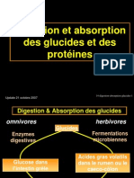 14-Digestion Absorption Glucides Proteines
