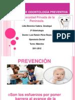 Expo de Prevencion Para El Miercoles de Operatoria Dental