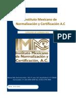 Catalogo de Normas2012 IMNC