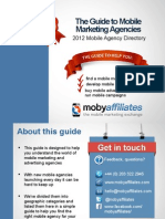 Guide to Mobile Marketing Agencies 2012
