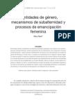 EBSCOhost_ Identidades de género, mecanismos de subalternidad y procesos de emancipaci..
