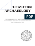 Pluckhahn, Thomas J., and Ann S. Cordell    2011	Paste Characterization of Weeden Island Pottery from Kolomoki and Its Implications for Specialized Production.  Southeastern Archaeology 30(2):288-310.