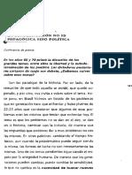 Freire Paulo - El grito manso - La confrontación no es pedagógica sino política