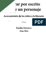 Ferreiro Emilia - Acercamiento de los niños a lo literario