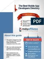Guide to Mobile App Developers