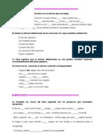 Ejercicios de Gramatica Espanola