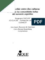 Borzone - Rosemberg - Leer y Escribir Entre Dos Culturas