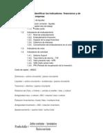 indicadores financieros proyecto