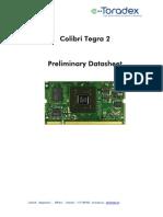Colibri T20 Datasheet Preliminary V0!91!2010!12!23
