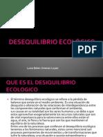 DESEQUILIBRIO ECOLÓGICO