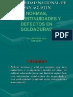 Normas, Discontinuidades y Defectos en Soldadura