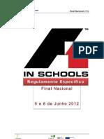 Regulamento F1inSchools - Nacional 2012