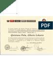 CERTIFICADO COMO EVALUADOR EXTERNO CON FINES DE ACREDITACION POR EL SINEACE PERÙ 2012