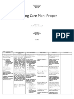 NCP Ineffective Tissue Perfusion and Self Care Deficit