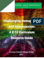 Challenging Homophobia and Heterosexism Final 2011