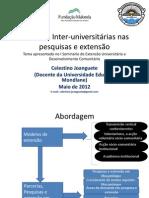 Parceria Inter-universitárias nas pesquisas e extensão