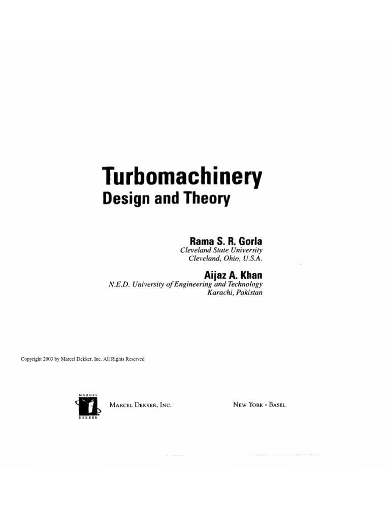 turbomachinery design and theory rama s r gorla aijaz a khan rh scribd com Turbomachinery Symposium 2013 Turbomachinery Symposium 2013