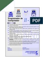 Prova Concurso - UFPE - Programador de Computador