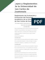 Reglamento de Evaluación y Promoción del Personal Académico de la  universidad de san carlos de Guatemala