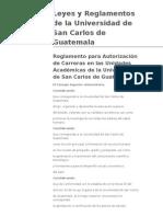 Reglamento para Autorización de Carreras en las Unidades Académicas de la Universidad de San Carlos de Guatemala