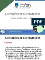 Anotacoes de Enfermagem Cleidemazuela