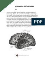 Basic Information On Psychology