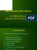 Programacion Lineal, Asignacion de Recursos