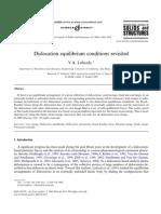 Dislocation Equilibrium