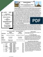 St. Joseph's June 6, 2012 Bulletin